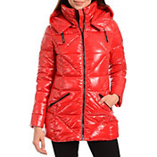 Kendall+Kylie Women's Hooded Puffer Jacket