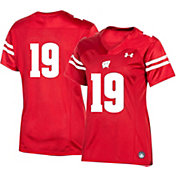 Under Armour Women's Wisconsin Badgers #19 Red Replica Football Jersey