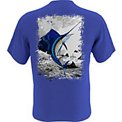 Guy Harvey Men's Leaping Sailfish Pocket T-Shirt
