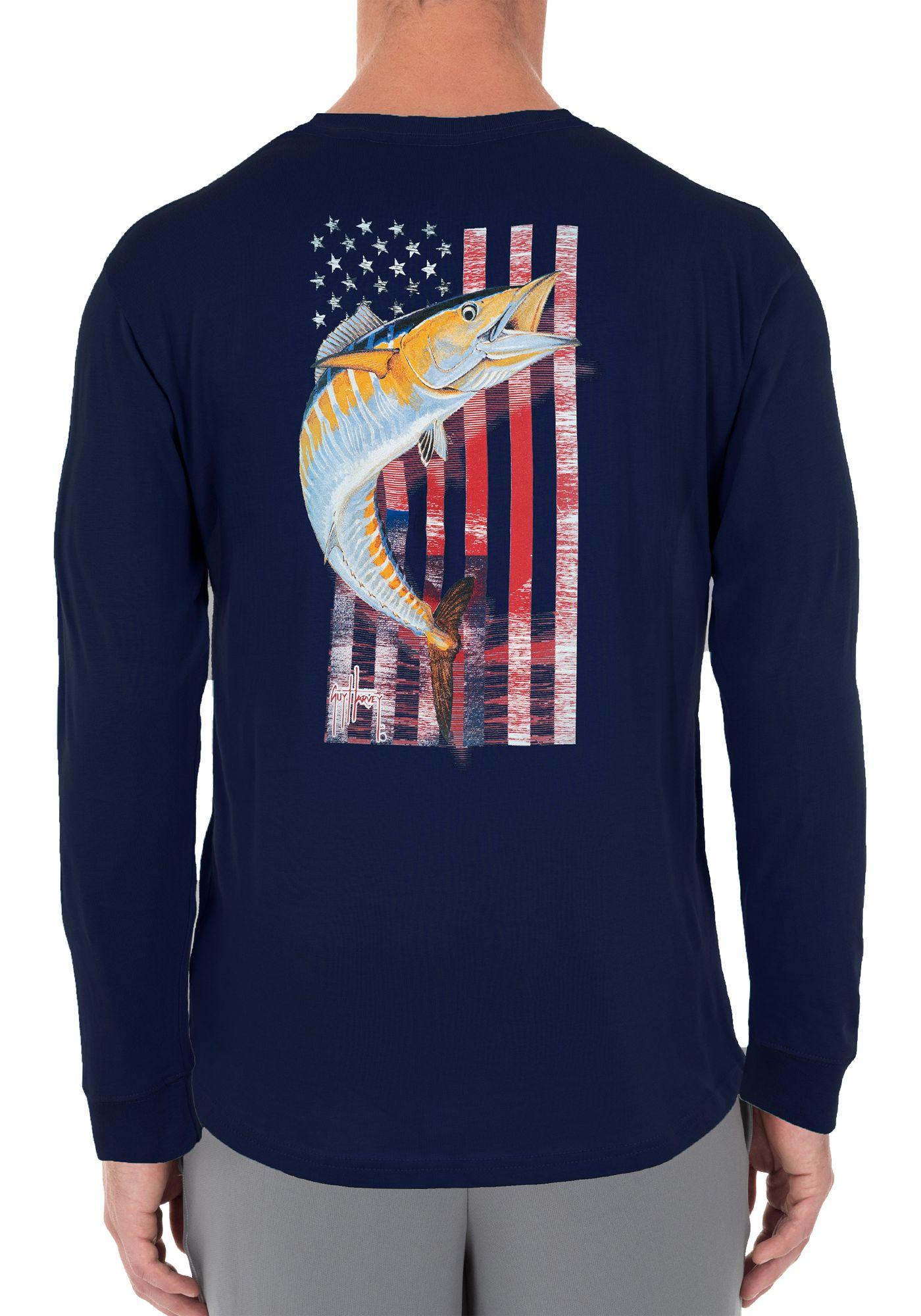 Guy Harvey Men's American Wahoo Long Sleeve Shirt