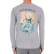 Guy Harvey Men's Marlin Hunt Pocket Long Sleeve Shirt