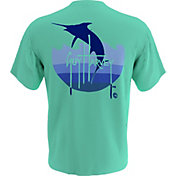 Guy Harvey Men's Marlin Wave T-Shirt