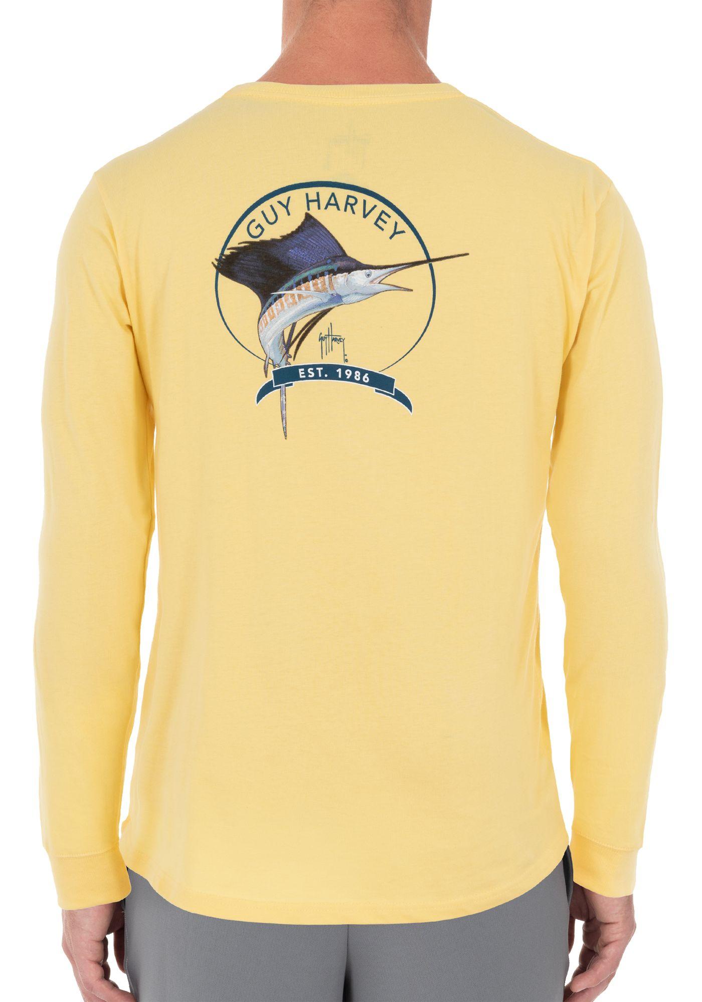 Guy Harvey Men's Core Sailfish Long Sleeve Shirt