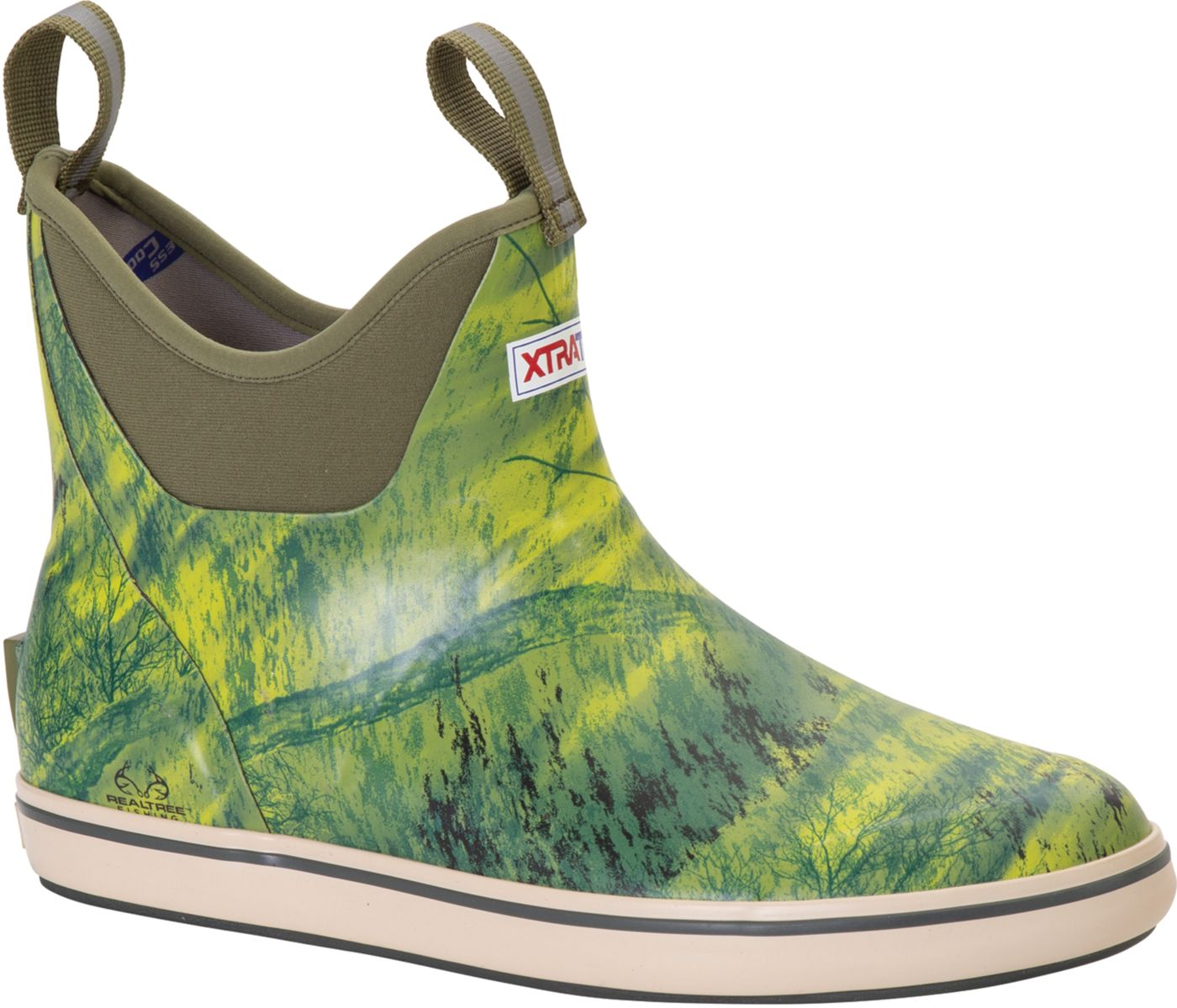 XTRATUF Men's 6'' Realtree Waterproof Deck Boots