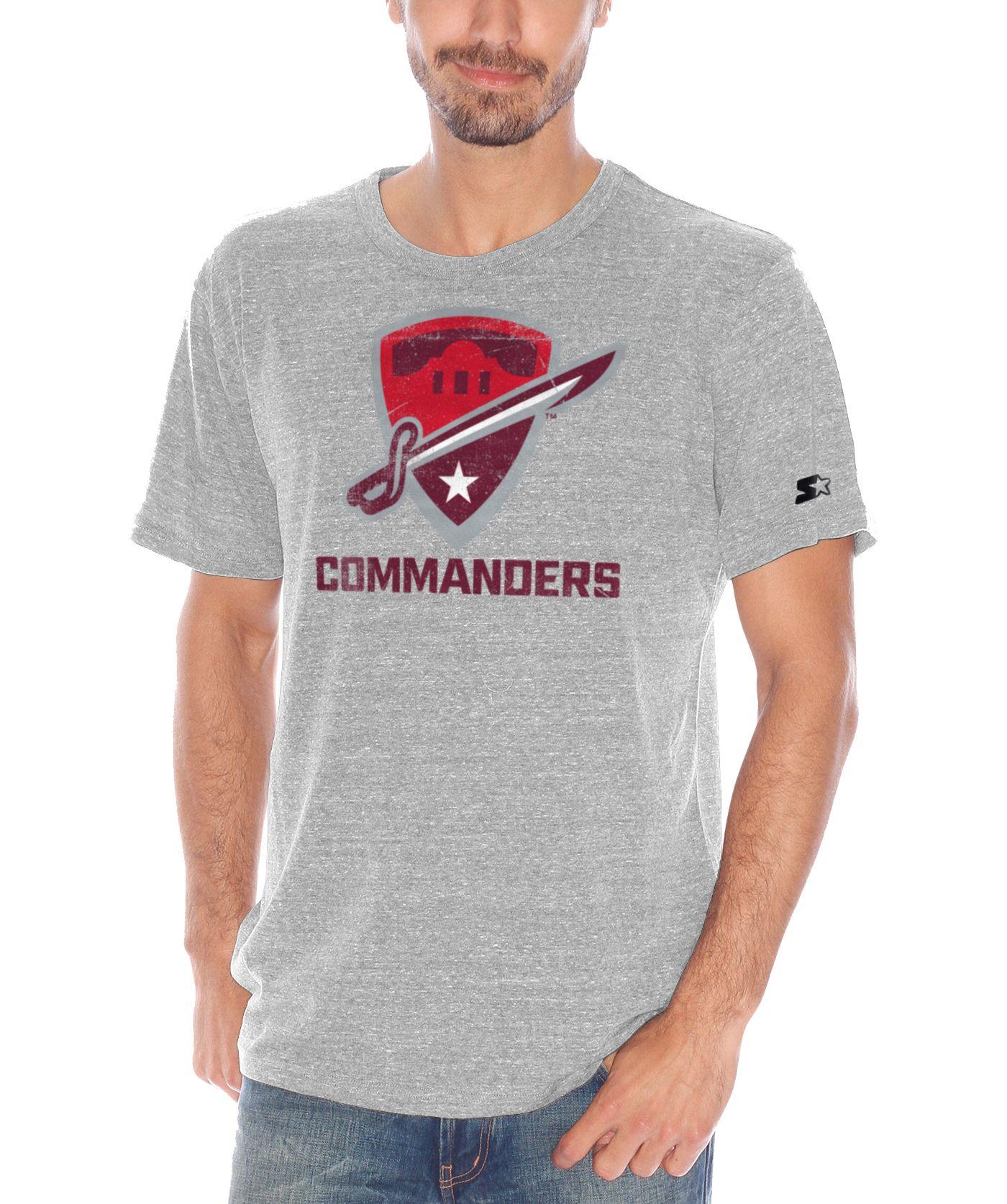 Starter Men's San Antonio Commanders Champs Heather Grey T-Shirt