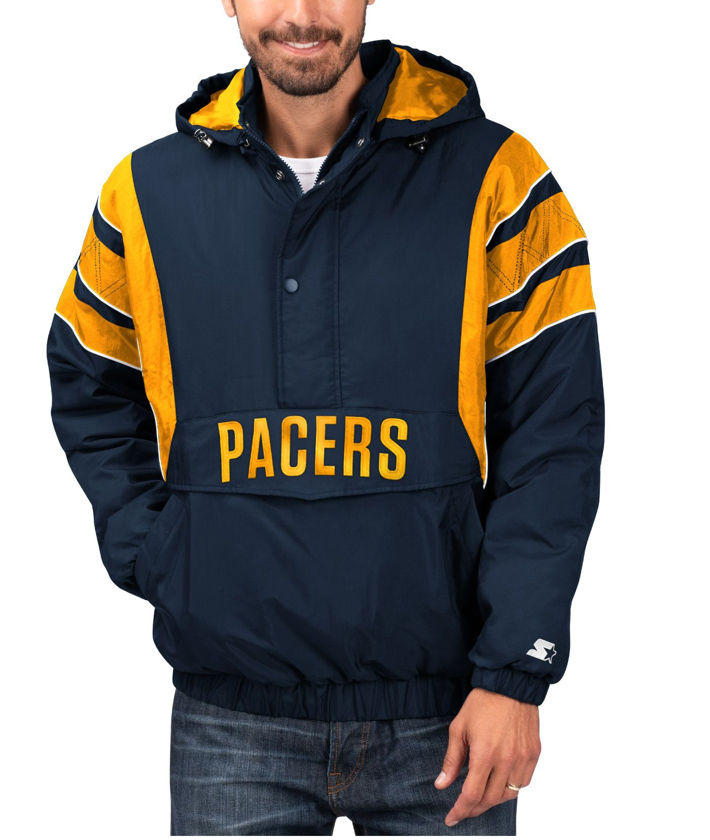 Starter Men's Indiana Pacers Hooded Pullover Jacket