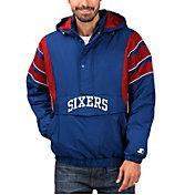 Starter Men's Philadelphia 76ers Hooded Pullover Jacket