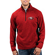 G-III Men's San Francisco 49ers Centerfold Half-Zip Red Jacket