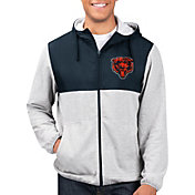 G-III Men's Chicago Bears Intermission Full-Zip Grey Jacket