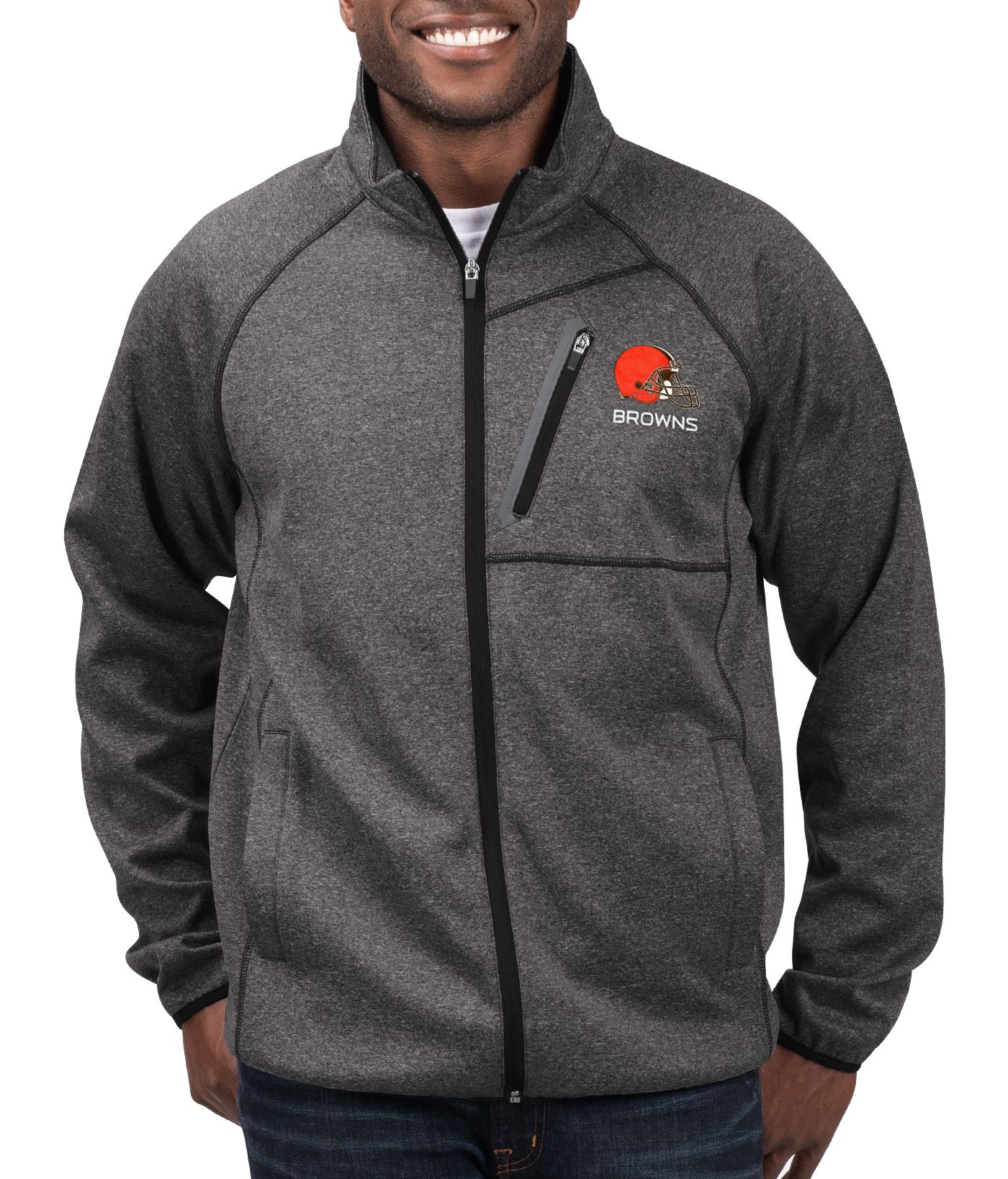 G-III Men's Cleveland Browns Switchback Full-Zip Black Jacket