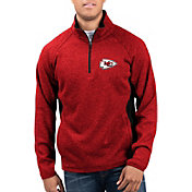 G-III Men's Kansas City Chiefs Centerfold Half-Zip Red Jacket