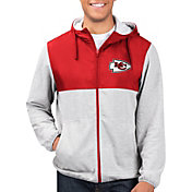G-III Men's Kansas City Chiefs Intermission Full-Zip Grey Jacket