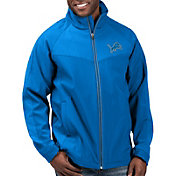 G-III Men's Detroit Lions Warning Track Full-Zip Blue Jacket