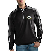 G-III Men's Green Bay Packers I-Form Quarter-Zip Black Pullover Jacket
