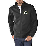 G-III Men's Green Bay Packers Audible Black Full-Zip Jacket
