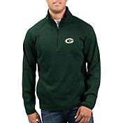 G-III Men's Green Bay Packers Centerfold Half-Zip Green Jacket