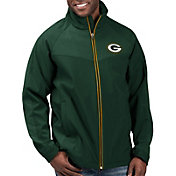 G-III Men's Green Bay Packers Warning Track Full-Zip Green Jacket