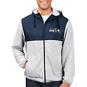 G-III Men's Seattle Seahawks Intermission Full-Zip Grey Jacket