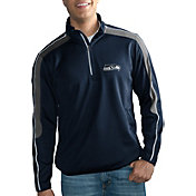 G-III Men's Seattle Seahawks I-Form Quarter-Zip Navy Pullover Jacket