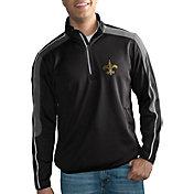 G-III Men's New Orleans Saints I-Form Quarter-Zip Black Pullover Jacket