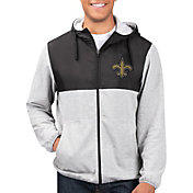 G-III Men's New Orleans Saints Intermission Full-Zip Grey Jacket