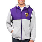 G-III Men's Minnesota Vikings Intermission Full-Zip Grey Jacket