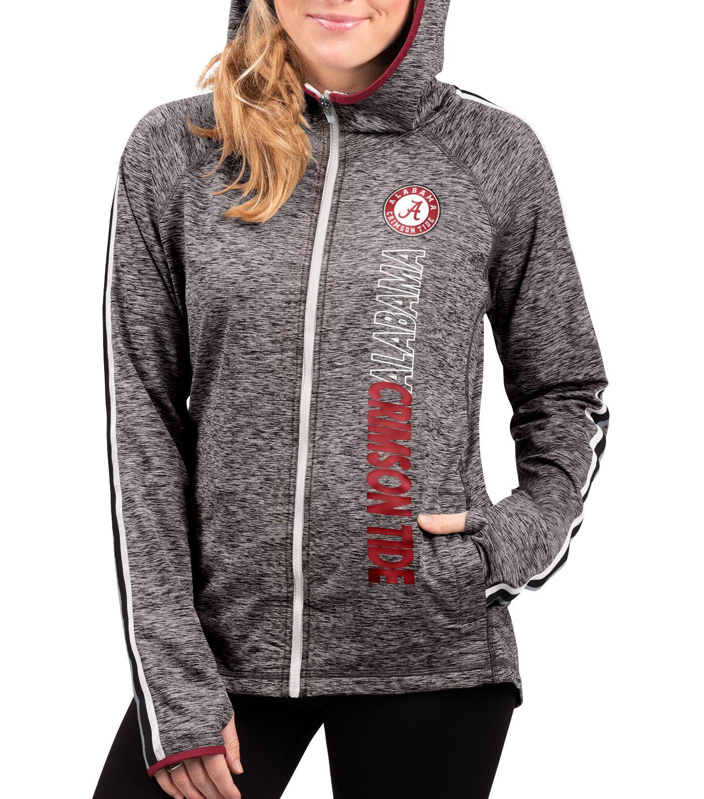 G-III For Her Women's Alabama Crimson Tide Grey Free Agent Full-Zip Hoodie
