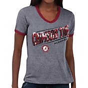 Touch by Alyssa Milano Women's Alabama Crimson Tide Grey Sequin Free Throw T-Shirt