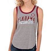 Touch by Alyssa Milano Women's Alabama Crimson Tide Grey Varsity Tank Top