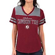 Touch by Alyssa Milano Women's Alabama Crimson Tide Crimson Fair Shutout V-Neck T-Shirt