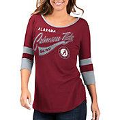 G-III For Her Women's Alabama Crimson Tide Crimson Gamechanger 3/4 Sleeve Shirt