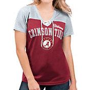 G-III For Her Women's Alabama Crimson Tide Crimson Shuffle Lace V-Neck T-Shirt