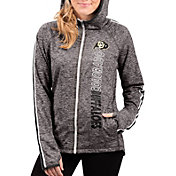 G-III For Her Women's Colorado Buffaloes Grey Free Agent Full-Zip Hoodie