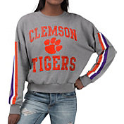 G-III For Her Women's Clemson Tigers Grey Freshman Crew Neck Sweatshirt