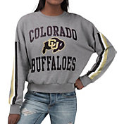G-III For Her Women's Colorado Buffaloes Grey Freshman Crew Neck Sweatshirt