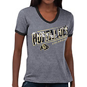 Touch by Alyssa Milano Women's Colorado Buffaloes Grey Sequin Free Throw T-Shirt