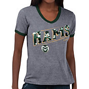 Touch by Alyssa Milano Women's Colorado State Rams Grey Sequin Free Throw T-Shirt