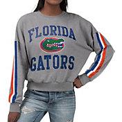 G-III For Her Women's Florida Gators Grey Freshman Crew Neck Sweatshirt