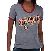 Touch by Alyssa Milano Women's Florida State Seminoles Grey Sequin Free Throw T-Shirt