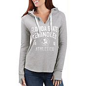 G-III For Her Women's Florida State Seminoles Grey Touchdown Pullover Hoodie