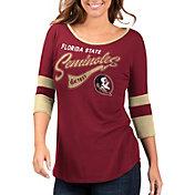 G-III For Her Women's Florida State Seminoles Garnet Gamechanger 3/4 Sleeve Shirt