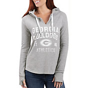 G-III For Her Women's Georgia Bulldogs Grey Touchdown Pullover Hoodie