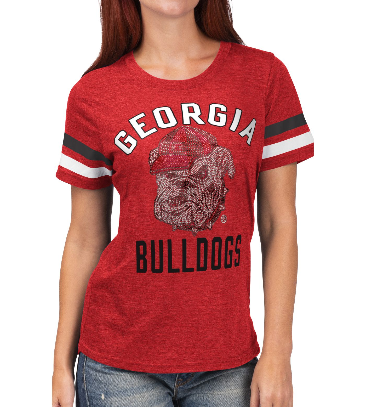 G-III For Her Women's Georgia Bulldogs Red Extra Point T-Shirt