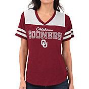 Touch by Alyssa Milano Women's Oklahoma Sooners Crimson Fair Shutout V-Neck T-Shirt