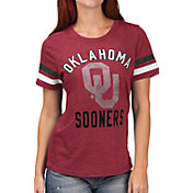 G-III For Her Women's Oklahoma Sooners Crimson Extra Point T-Shirt
