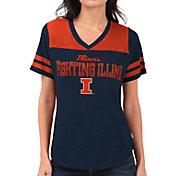 Touch by Alyssa Milano Women's Illinois Fighting Illini Blue Fair Shutout V-Neck T-Shirt