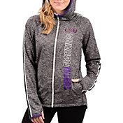 G-III For Her Women's LSU Tigers Grey Free Agent Full-Zip Hoodie