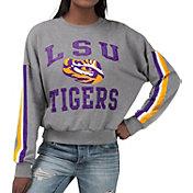 G-III For Her Women's LSU Tigers Grey Freshman Crew Neck Sweatshirt