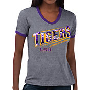 Touch by Alyssa Milano Women's LSU Tigers Grey Sequin Free Throw T-Shirt