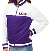 G-III For Her Women's LSU Tigers Purple/White Face Off Full-Zip Jacket